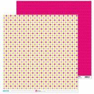 GRAFOPLAS 37019703. Papeles scrapbooking (Flor rosa) colección Mosaico