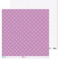 GRAFOPLAS 37019704. Papeles scrapbooking (Flor violeta) colección Mosaico