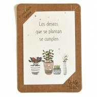 SHEEDO Tarjeta plantable - Los deseos que se plantan se cumplen