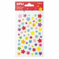 APLI 13510. 5 hojas pegatinas decorativas (Estrellas Color)
