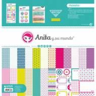 GRAFOPLAS 37080602. Kit bolsa Scrapbooking colección Mosaico de Anita y su mundo