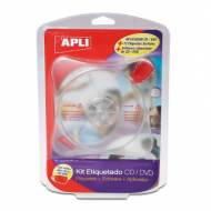 APLI 10959. Kit de etiquetado para CD-DVD