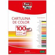 GRAFOPLAS 11110456. Pack 100 cartulinas Fixo paper A4 de 180  gr. Color rojo navidad