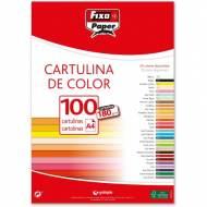 GRAFOPLAS 11110463. Pack 100 cartulinas Fixo paper A4 de 180  gr. Color amarillo limón