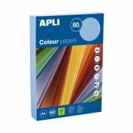 APLI 15290. Papel de 80 gr. A4 color azul pastel (500 hojas)