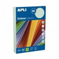 APLI 15291. Papel de 80 gr. A4 color verde pastel (500 hojas)
