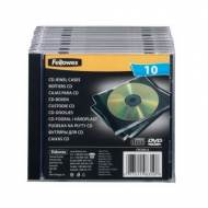 Fellowes 98316. Pack 25 cajas CDS Slim transparente