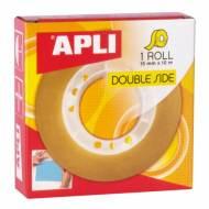 APLI 11505. Cinta adhesiva doble cara (15 mm x 10 m)