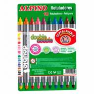 ALPINO AR000013. Estuche con 10 rotuladores de doble punta. Colores surtidos