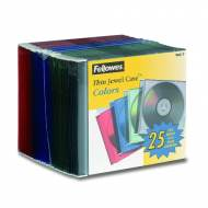 Fellowes 98317. Pack 25 cajas CDS Slim surtidos