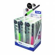 MILAN Caja Expositor de 12 bolígrafos Stylus. Color azul - 176560912