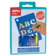 APLI 14720. Mini kit manualidades Plantillas Letras