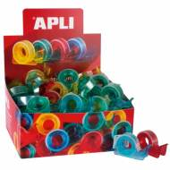 APLI 12082. 60 dispensadores con cinta adhesiva transparente (15 mm x 10 m)