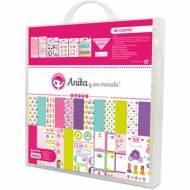 GRAFOPLAS 37080703. Kit maletín Scrapbooking colección De cuento de Anita y su mundo