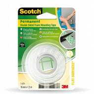 Scotch Soporte adhesivo doble cara, 19 mm x 1,5 m. Para interior - 70005091288