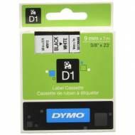DYMO Cinta D1 (9 mm x 7 m) Negro sobre Blanco -S0720680