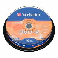 VERBATIM DVD-R 16x Advanced AZO 4,7GB Spindle 10 uds - 43523