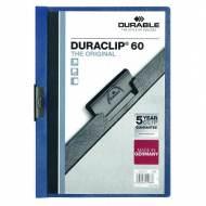 DURABLE 220907. Dossiers con clip Duraclip 60 A4. Capacidad 60 hojas Azul oscuro