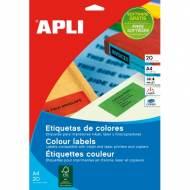 APLI 1601. Carpeta 20 hojas A4 etiquetas ILC rojas (210,0 X 297,0 mm.)