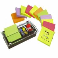 POST-IT Notas adhesivas Z-Notes Pack 12 blocs+Dispensador+notas surtidas Millenium 76x76mm - FT510102336