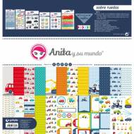 GRAFOPLAS 37080704. Kit maletín Scrapbooking colección Sobre ruedas de Anita y su mundo