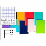Liderpapel BF01 Cuaderno espiral Folio 80 hojas, 60 gr. Colores surtidos