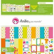 GRAFOPLAS 37080705. Kit maletín Scrapbooking colección Mascotas de Anita y su mundo