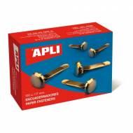 APLI 12283. Caja de 100 encuadernadores sin arandela (12 mm.)