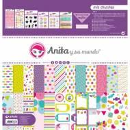 GRAFOPLAS 37080706. Kit maletín Scrapbooking colección Mis chuches de Anita y su mundo