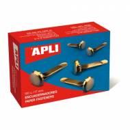 APLI 12284. Caja de 100 encuadernadores sin arandela (17 mm.)
