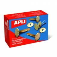 APLI 12285. Caja de 100 encuadernadores con arandela (18 mm.)