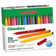 ALPINO AR000108. Estuche formato escolar con 216 rotuladores de punta fina.