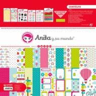 GRAFOPLAS 37080727. Kit maletín Scrapbooking colección Aventura de Anita y su mundo