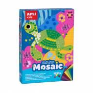 APLI 13911. Kit manualidades Mosaico goma eva Marino