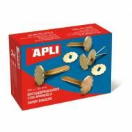 APLI 12286. Caja de 100 encuadernadores con arandela (30 mm.)