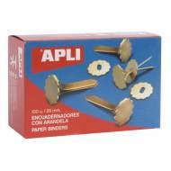 APLI 12577. Caja de 100 encuadernadores con arandela (25 mm.)