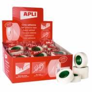 APLI 12533. 35 rollos cinta adhesiva invisible (19 mm x 33 m)