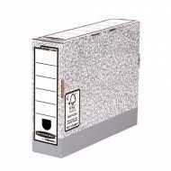 Fellowes 1080001. Caja de archivo definitivo A4 gris 80 mm. gris