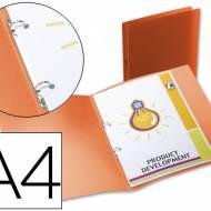 Liderpapel CA64. Carpeta A4 2 anillas redondas 15 mm polipropileno naranja