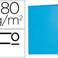 Liderpapel SC04. 50 subcarpetas folio 180 g/m2 azul celeste