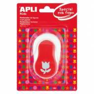 APLI 13299. Perforadora de goma EVA figura Tulipán (25,4 mm.)
