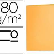 Liderpapel SC06. 50 subcarpetas folio 180 g/m2 naranjas