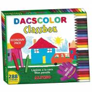 ALPINO DC000016. Estuche formato escolar con 288 ceras Dacscolor. Colores surtidos