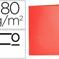 Liderpapel SC08. 50 subcarpetas folio 180 g/m2 rojas