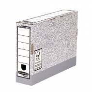 Fellowes 1180001. Caja de archivo definitivo folio 80 mm. gris