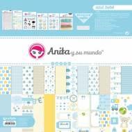 GRAFOPLAS 37080731. Kit maletín Scrapbooking colección Azul bebé de Anita y su mundo