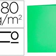 Liderpapel SC10. 50 subcarpetas folio 180 g/m2 verdes