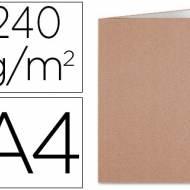 Liderpapel SC22. 50 subcarpetas A4 240 g/m2 kraft interior blanco