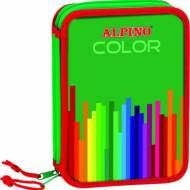 ALPINO UA000113. Plumier pequeño doble con 29 piezas