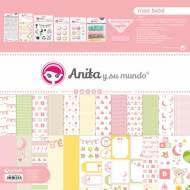 GRAFOPLAS 37080732. Kit maletín Scrapbooking colección Rosa bebé de Anita y su mundo